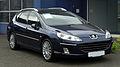 Peugeot 407 SW V6 HDi FAP 205 Bi-Turbo Platinum (1. Facelift) – Frontansicht, 28. Mai 2011, Hilden.jpg
