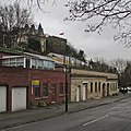 Peveril Drive, Nottingham Castle and the edge of Storm Abigail (geograph 4738299).jpg
