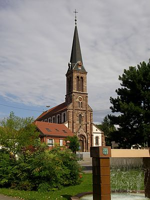 Pfastatt - The Church of Saint Maurice