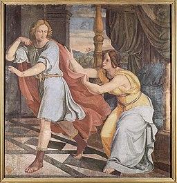 Philipp Veit Cykl fresków w Casa Bartholdy w Rzymie, scena: Józef i żona Potyfara, 1816-1817