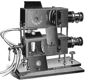 Stereopticon - Illustration of a stereopticon
