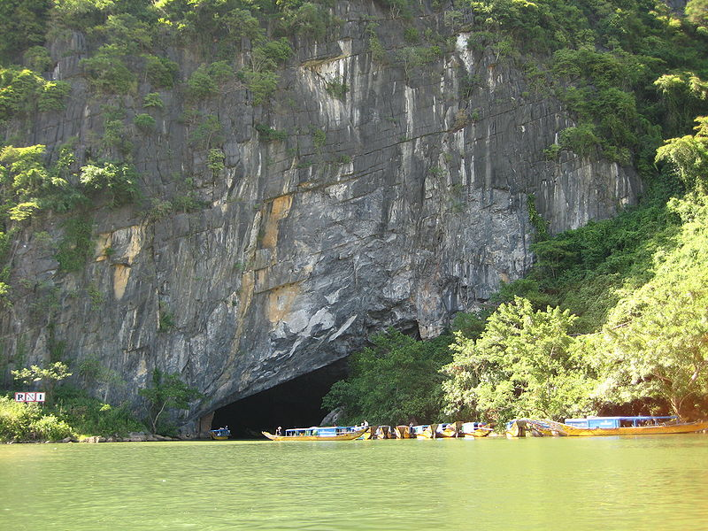 River Cave In Central Vietnam