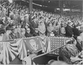 Photograph of President Truman and other officials at Washington's Griffith Stadium for the opening game of the... - NARA - 199582.tif