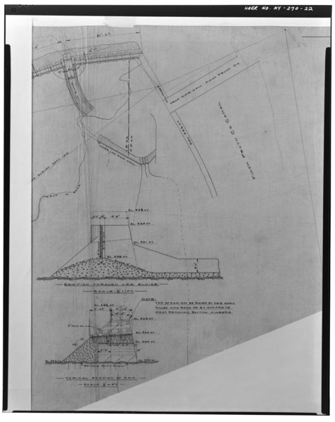 File:Photographic copy of ink on linen drawing (at the archives of Niagara Mohawk Power Corporation, 300 Eric Boulevard West, Syracuse, New York 13202), Strand, Draftsman, September HAER NY,57-GLEFA,1-22.tif