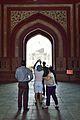 Photographing Taj Mahal - Main Gateway - Taj Mahal Complex - Agra 2014-05-14 3756.JPG