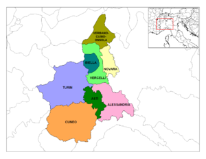 Provinces of Piedmont.