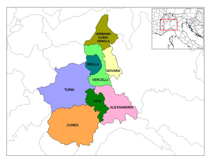 Provinces of Piedmont. Piedmont Provinces.png