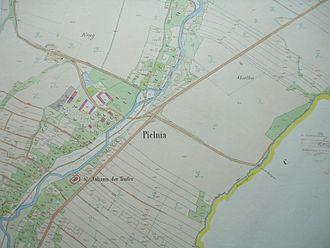 Cadastre - Cadastral map of the village of Pielnia, 1852, Austrian Empire