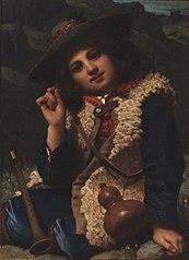 Italian Boy in Sheepskin Jacket