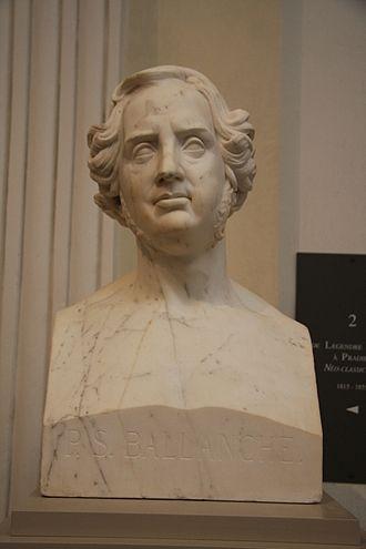 Pierre-Simon Ballanche - Buste de Pierre-Simon Ballanche par Jean-Marie Bonnassieux, musée des Beaux-Arts de Lyon