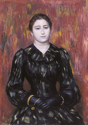 Glove - Portrait of Mme. Paulin wearing gloves, Pierre Auguste Renoir
