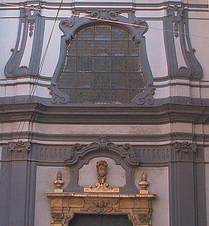 San Pietro Martire, Naples - Detail of the facade