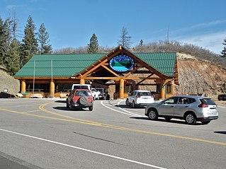 Pikes Peak Highway Alpine road in Colorado, United States