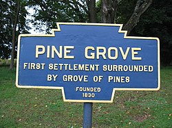 Official logo of Pine Grove,Schuylkill County,Pennsylvania