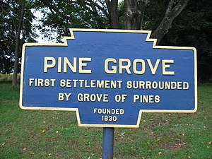 Pine Grove, Schuylkill County, Pennsylvania - Image: Pine Grove, PA Keystone Marker 2