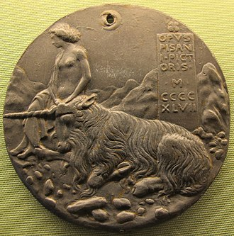 Medal - Reverse of the same medal, this copy with a suspension hole added later (inside a crescent moon in the design).