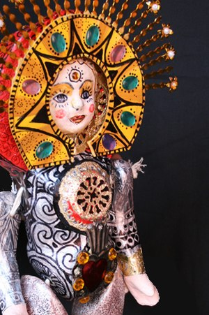 "Miss Lupita project - Doll named ""Pita, la haceadors de soles"" in honor of Pita Amor."