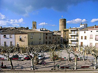 Verdú - Plaça Major in Verdú