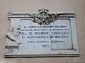 Placa en homenatge a Roc Chabàs, plaça Crespins de València.jpg