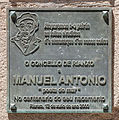 Placa na casa museo de Manuel Antonio. Rianxo. Galiza.jpg