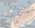 Plan of Alexandria c 30 BC Otto Puchstein 1890s Greek.jpg
