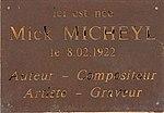 """Plaque """"Ici est née Mick Mickeyl"""" au 201 Rue Vendôme à Lyon.jpg"""