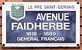 Plaque Avenue Faidherbe - Le Pré-Saint-Gervais (FR93) - 2021-04-28 - 1.jpg