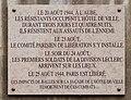 Plaque Hôtel de Ville de Paris Libération 1944, rue de Rivoli.jpg
