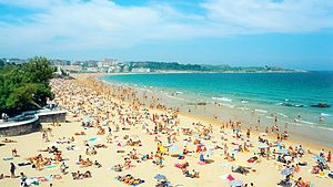 Santander, Spain - Beach of El Sardinero