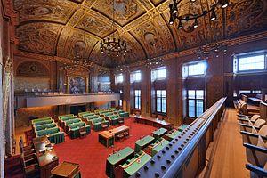 Senate (Netherlands) - Image: Plenaire zaal Eerste Kamer