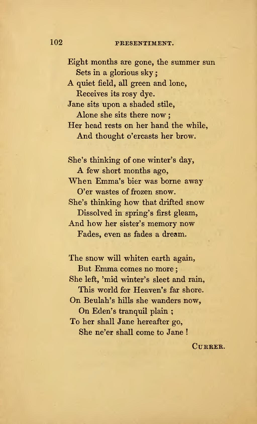 Pagepoems By Currer Ellis And Acton Bell Charlotte Emily And Anne Bronte