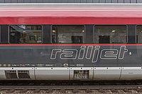 Poertschach Drautalbahn II Bahnhof Railjet-Waggon-Ausschnitt 23032016 1112.jpg