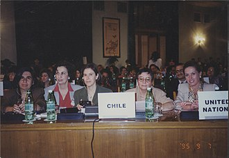 World Conference on Women, 1995 - Chilean politicians attending the conference.