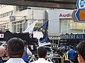 Police barrage in front of demonstration at Iikura Crossing.jpg