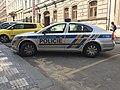 Police car in Prague - Voiture de police dans Prague - CZ Praha 07.jpg
