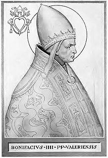 Pope Boniface IV 7th-century pope