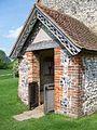 Porch, St Hubert's Chapel, Idsworth - geograph.org.uk - 830794.jpg