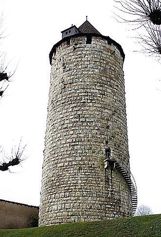 Porrentruy Castle - Porrentruy Castle:  the Réfous Tower