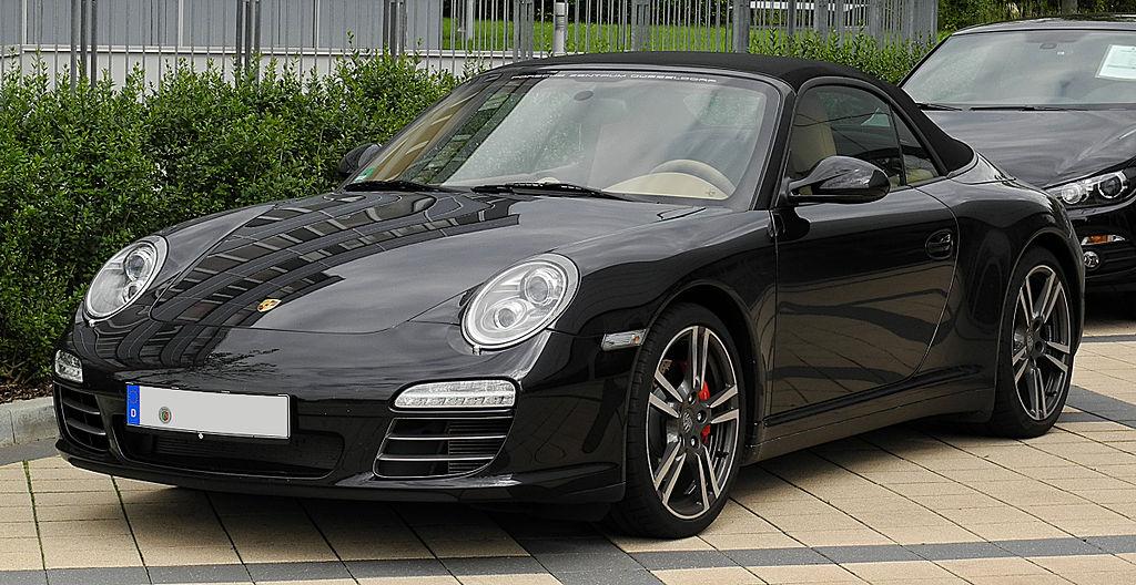 fileporsche 911 cabriolet black edition 997 facelift frontansicht 2 juli 2011 dsseldorfjpg - 911 Porsche Black
