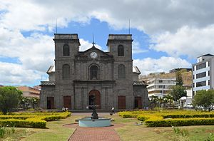 Christianity in Mauritius - Old and new images of St. Louis Cathedral, Port-Louis