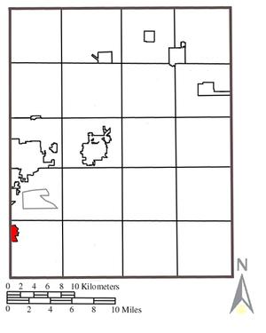Mogadore, Ohio - Location within Portage County