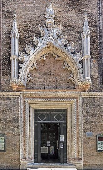 Santo Stefano, Venice - Image: Portal of Santo Stefano (Venice)