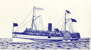 Portland (shipwreck) - Portland, drawn in 1895 by Samuel Ward Stanton, who died on the Titanic.