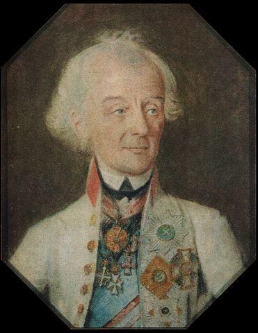 Последний прижизненный портрет А. В. Суворова. ХудожникИ. Г. Шмидт. 1800 год