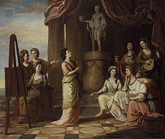 Portraits in the Characters of the Muses in the Temple of Apollo by Richard Samuel