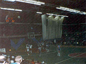 Mountbatten Centre - A basketball match, Portsmouth versus Crystal Palace, 26 March 1986