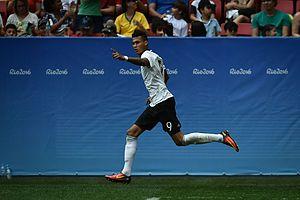 Davie Selke - Selke celebrating a goal at the 2016 Rio Olympics.