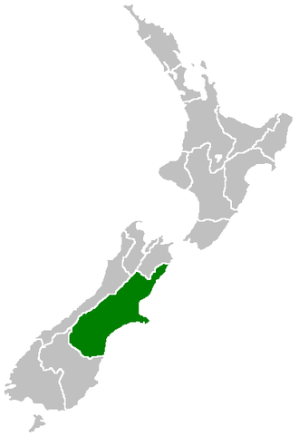 Canterbury Regional Council - Image: Position of Canterbury Region