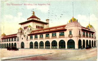 Los Angeles Herald Examiner - Image: Postcard ca los angeles examiner building