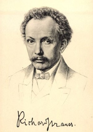Feuersnot - Post card of Strauss from 1900.